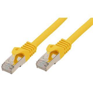 (€1,19*/1m) 7.50m Good Connections Cat. 7 Rohkabel Patchkabel S/FTP PiMF RJ45 Stecker auf RJ45 Stecker Gelb halogenfrei