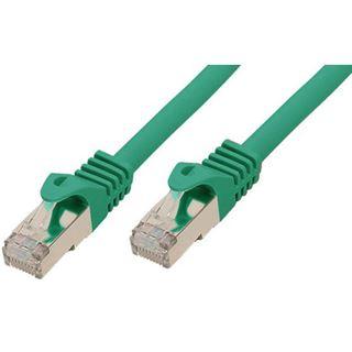 (€0,99*/1m) 10.00m Good Connections Cat. 7 Rohkabel S/FTP PiMF RJ45 Stecker auf RJ45 Stecker Grün halogenfrei