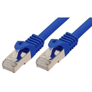 (€0,79*/1m) 15.00m Good Connections Cat. 7 Rohkabel S/FTP PiMF RJ45 Stecker auf RJ45 Stecker Blau halogenfrei