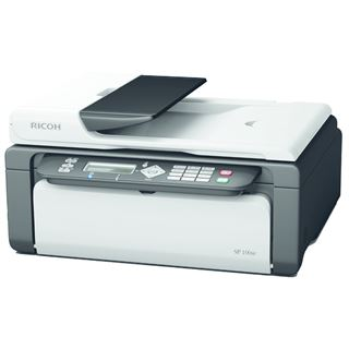 Ricoh Aficio SP 100SF e S/W Laser Drucken/Scannen/Kopieren/Faxen USB 2.0