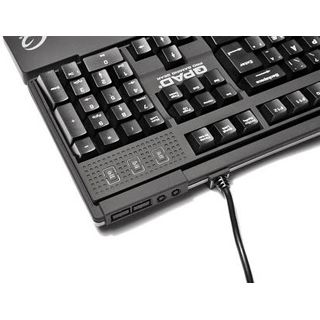 QPad MK-50 Pro CHERRY MX Black PS/2 & USB Deutsch schwarz (kabelgebunden)