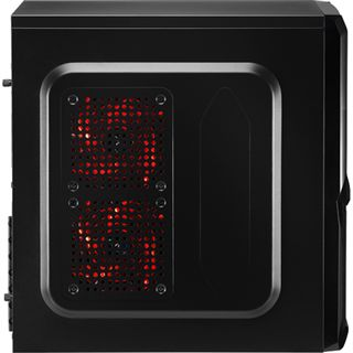 AeroCool V3X Advance Devil Red Edition Midi Tower ohne Netzteil schwarz/rot