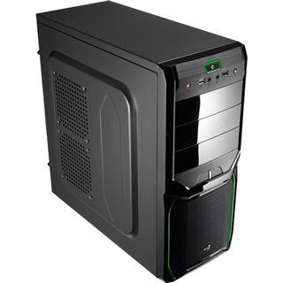 AeroCool V3X Advance Evil Green Edition Midi Tower ohne Netzteil schwarz/gruen