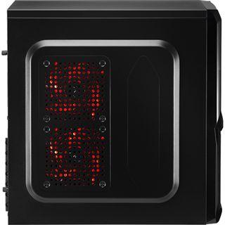 AeroCool V3X Devil Red Edition Midi Tower ohne Netzteil schwarz/rot