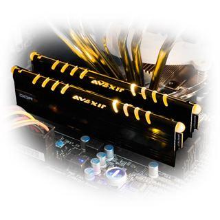 8GB Avexir Core Series goldene LED DDR3-1600 DIMM CL9 Dual Kit