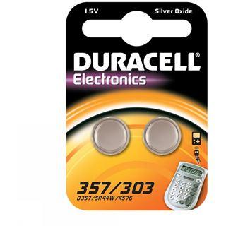 Duracell 357/303 SR44 Silberoxid Knopfzellen Batterie 1.5 V 2er Pack