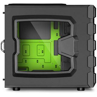 Sharkoon Bulldozer grün beleuchtet mit Sichtfenster Midi Tower ohne Netzteil schwarz