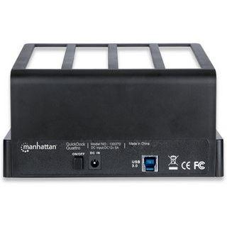 """Manhattan QuickDock Quattro USB 3.0 Dockingstation für 4x 2.5"""" und 3.5"""" Festplatten (130370)"""