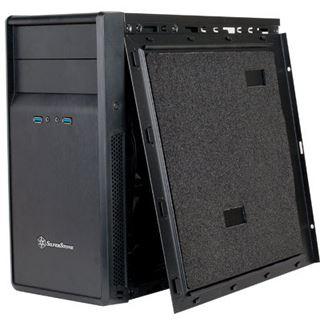 Silverstone SST-PS09B USB 3.0 gedämmt Midi Tower ohne Netzteil schwarz