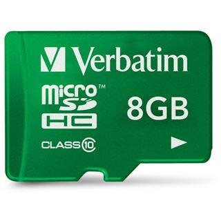 8 GB Verbatim Tablet microSDHC Class 10 Retail inkl. Adapter auf SD