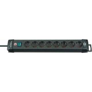(€5,63*/1m) 3.00m Brennenstuhl Premium-Line Steckdosenleiste mit Schalter Schwarz 8 (1951180100)
