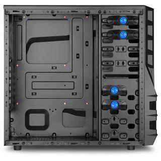 Sharkoon Vaya II Value mit Sichtfenster Midi Tower ohne Netzteil schwarz