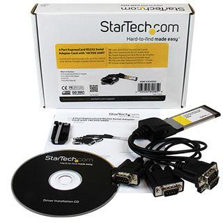 Startech Seriell RS232 Laptop 4 Port Express Card 34 retail