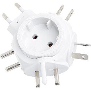 LogiLink Reiseadapter für Euro plug, Max. 2500W, 250V/10A