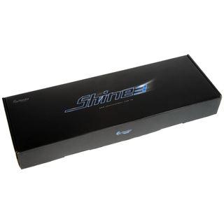 Ducky Shine 3 weiße LED MX Blue CHERRY MX Blue USB Deutsch schwarz (kabelgebunden)