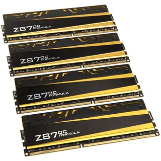 32GB Avexir Blitz Series 1.1 ASRock Formula gelbe LED DDR3-2666 DIMM CL11 Quad Kit