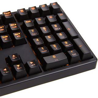 Ducky Shine 3 orange LED MX Blue CHERRY MX Blue USB Deutsch schwarz (kabelgebunden)