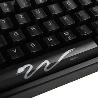 Ducky Shine 3 weiße LED MX Black CHERRY MX Black USB Deutsch schwarz (kabelgebunden)