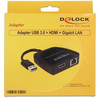DeLOCK USB 3.0 auf HDMI/Gb LAN Adapter (62522)