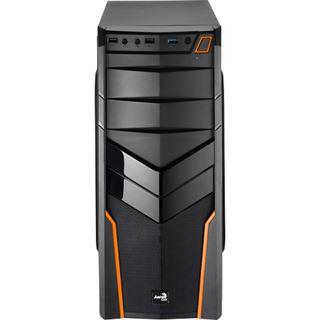 AeroCool V2X Orange Edition Midi Tower ohne Netzteil schwarz/orange