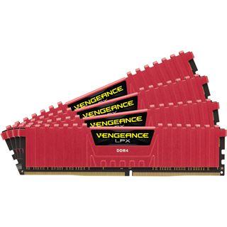 16GB Corsair Vengeance LPX rot DDR4-2800 DIMM CL16 Quad Kit
