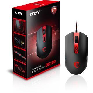 MSI Interceptor USB schwarz/rot (kabelgebunden)