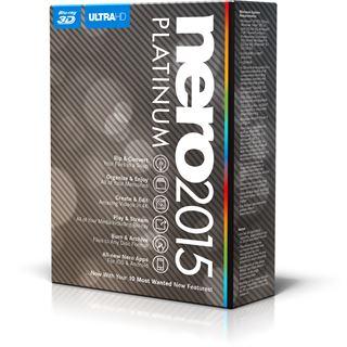 Nero 2015 Platinum 32/64 Bit Deutsch Brennprogramm Vollversion PC (CD/DVD)