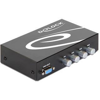 Delock 87636 4-fach VGA-A/V-Switch