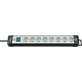 (€3,05*/1m) 5.00m Brennenstuhl Premium-Line Steckdosenleiste mit Schalter Schwarz/Grau 8 (1951580101)