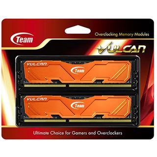 16GB TeamGroup Vulcan Series orange DDR3-1600 DIMM CL9 Dual Kit