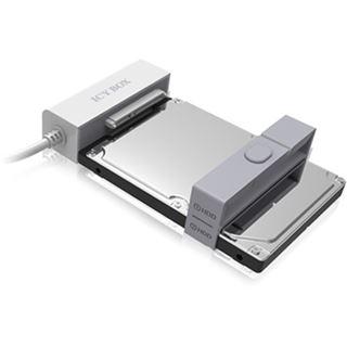"RaidSonic Icy Box IB-AC622-U3 weiß Adapterkabel für 2x 2,5"" SATA HDD/SDD zu 1x USB 3.0 (70609)"