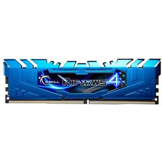 32GB G.Skill RipJaws 4 blau DDR4-2666 DIMM CL16 Quad Kit