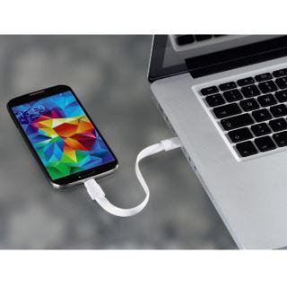 (€44,50*/1m) 0.20m Hama USB2.0 Anschlusskabel USB A Stecker auf USB mikroB Stecker Weiß flach