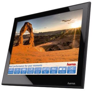 """8,0"""" (20,32cm) Hama Digitaler Bilderrahmen Slimline Premium Acryl"""