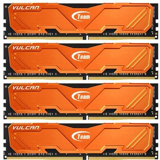 16GB TeamGroup Vulcan Series orange DDR4-3000 DIMM CL16 Quad Kit
