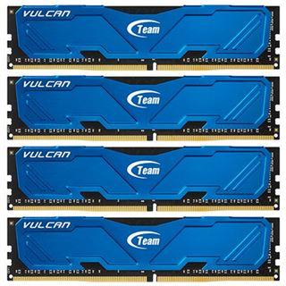 16GB TeamGroup Vulcan Series blau DDR4-2666 DIMM CL15 Quad Kit