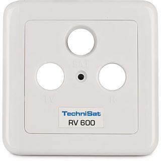 Durchgang TechniSat Antennensteckdose TechniPro RV 600-13 Koax Stecker + Koax Buchse auf F Stecker Weiß