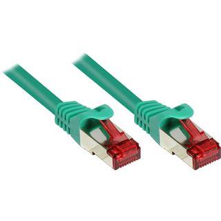 (€0,52*/1m) 40.00m Good Connections Cat. 6 Patchkabel S/FTP PiMF RJ45 Stecker auf RJ45 Stecker Grün vergoldet