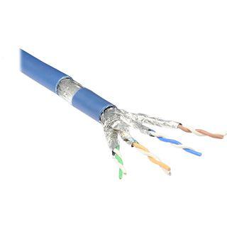 50.00m Good Connections Cat. 6a Patchkabel S/FTP PiMF RJ45 Stecker auf RJ45 Stecker Blau halogenfrei