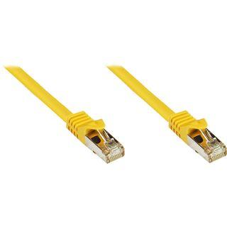 (€0,82*/1m) 50.00m Good Connections Cat. 7 Rohkabel Patchkabel S/FTP PiMF RJ45 Stecker auf RJ45 Stecker Gelb halogenfrei/vergoldet