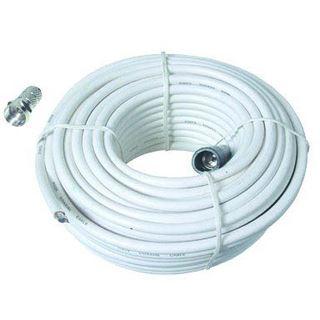 10.00m Good Connections SAT Anschlusskabel F-Stecker auf F-Stecker Weiß