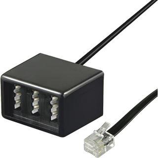 0.20m Good Connections Telefon Anschlusskabel RJ11 Buchse auf NFN Buchse Schwarz