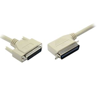 (€1,58*/1m) 5.00m Good Connections Seriell Anschlusskabel 25pol Stecker auf 25pol Buchse gewinkelt links Grau