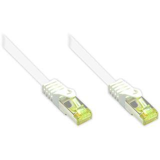 40.00m Good Connections Cat. 7 Rohkabel Patchkabel S/FTP PiMF RJ45 Stecker auf RJ45 Stecker Weiß halogenfrei/vergoldet