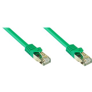40.00m Good Connections Cat. 7 Rohkabel Patchkabel S/FTP PiMF RJ45 Stecker auf RJ45 Stecker Grün halogenfrei
