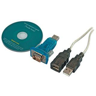 Good Connections USB an Seriell Konverter Adapter USB A Stecker an 9-pol SubD Stecker inkl. USB Verlängerung