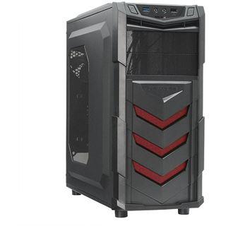Raidmax Vortex V4 mit Sichtfenster Midi Tower ohne Netzteil schwarz/rot