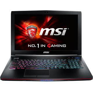 """15.6"""" (39,62cm) MSI GE62-2QFUi781, 4K/UHD - Gaming Notebook"""