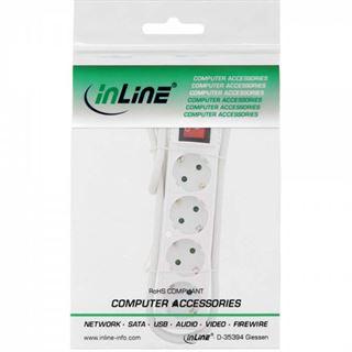 (€5,27*/1m) 1.50m InLine Steckdosenleiste mit Schalter Weiß 4 (16441G)