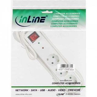 (€5,93*/1m) 1.50m InLine Steckdosenleiste mit Schalter Weiß 3 (16431Q)